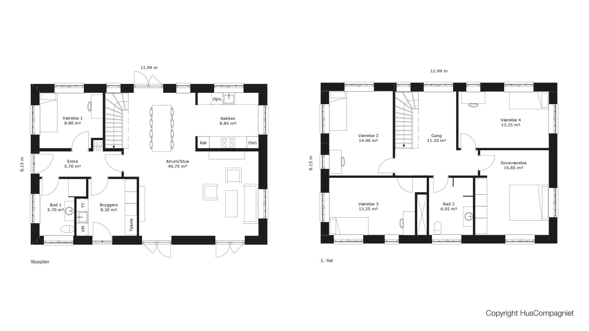 Picture of: Plantegning 2 Plan 195 M2 Huscompagniet