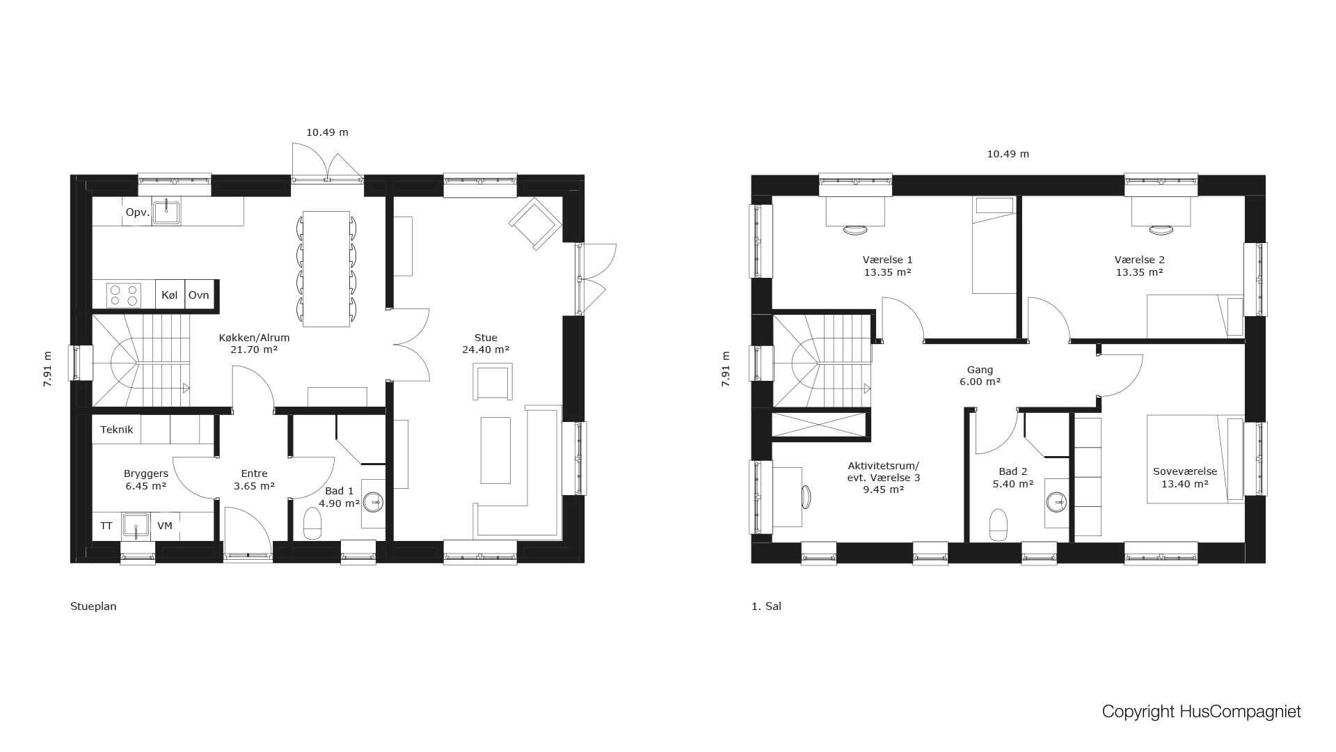 Picture of: Plantegning 2 Plan 166 M2 Huscompagniet