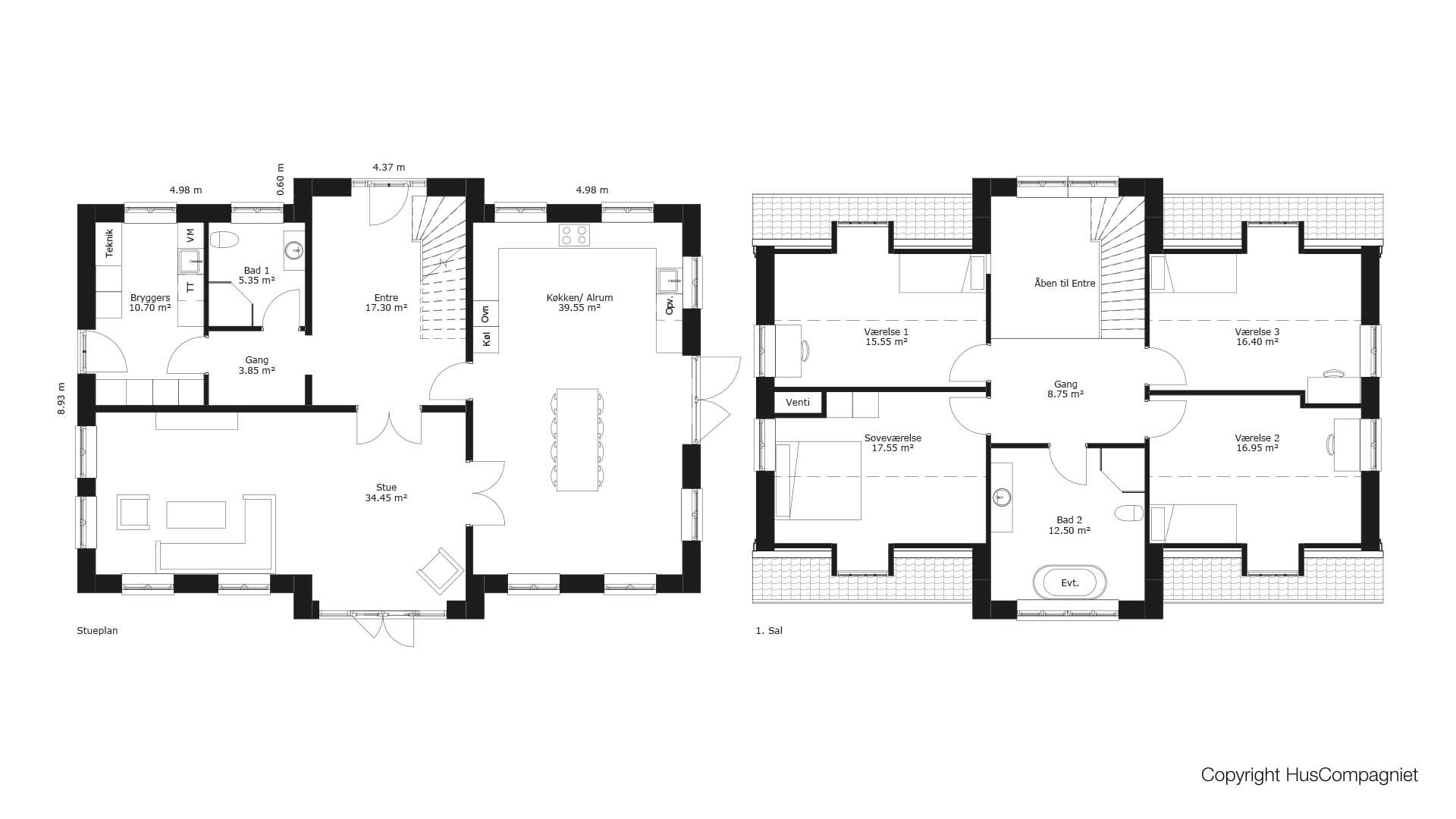 Picture of: Plantegning 1 5 Plan 247 M2 Huscompagniet